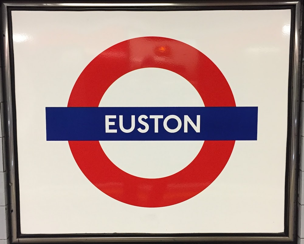 Euston Station Sign