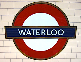 Waterloo Station Sign